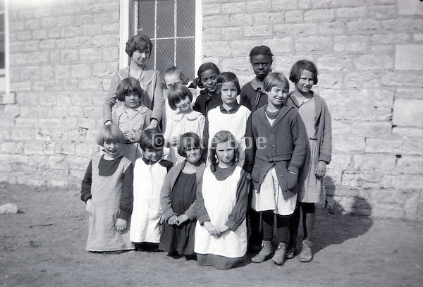 1920s USA ethnicity mixed rural elementary school girls class