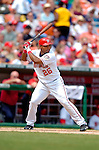 5 September 2005: Marlon Byrd, outfielder for  the Washington Nationals, at bat against the Florida Marlins. The Nationals defeated the Marlins 5-2 at RFK Stadium in Washington, DC, maintaining a close race for the NL Wildcard spot. Mandatory Photo Credit: Ed Wolfstein.