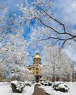 Mar. 12, 2014; Main Building after a snowfall. Photo by Matt Cashore/University of Notre Dame
