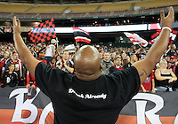 WASHINGTON, DC - OCTOBER 20, 2012:  Fans of D.C United against the Columbus Crew during an MLS match at RFK Stadium in Washington D.C. on October 20. D.C United won 3-2.