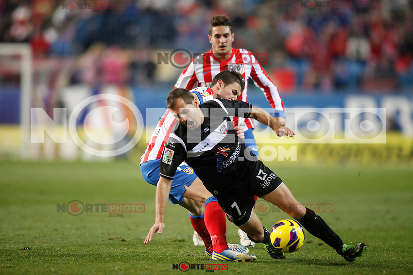 Atletico de Madrid vs Levante during La Liga Match, in the pic: Jose Barkero and Gabi. January 20, 2013. (ALTERPHOTOS/Caro Marin) /NORTEPHOTO