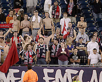 Fans enjoyed the 67 degree temperature at the game.  The New England Revolution drew FC Dallas 1-1, at Gillette Stadium on May 1, 2010