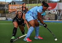 Rachel McCann of the Blacksticks during the international hockey match between the Blacksticks Women and India, Rosa Birch Park, Pukekohe, New Zealand. Sunday 14  May 2017. Photo:Simon Watts / www.bwmedia.co.nz
