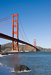 San Francisco, California, Golden Gate Bridge, South End Vista Point. Photo copyright Lee Foster.  Photo # 1-casanf76386.