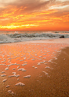 Sunrise over the Atlantic Ocean on the NC coast.