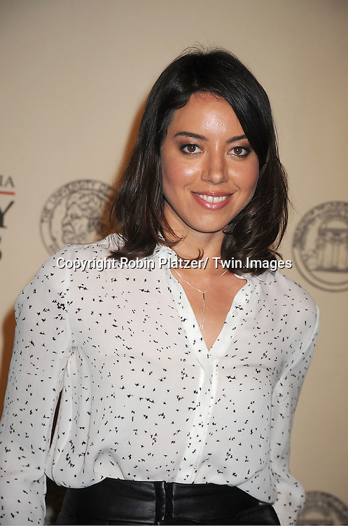 Aubrey Plaza attends the 71st Annual Peabody Awards at the Waldorf Astoria Hotel in New York City on May 21, 2012.