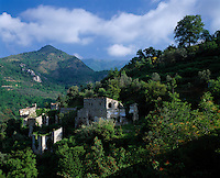 Italy, Liguria, inland near Castelvecchio di Rocca Barbena: Ruin