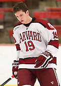Jimmy Vesey (Harvard - 19) - The visiting University of Massachusetts Lowell River Hawks defeated the Harvard University Crimson 5-0 on Monday, December 10, 2012, at Bright Hockey Center in Cambridge, Massachusetts.