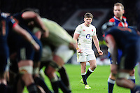 Owen Farrell of England looks on. RBS Six Nations match between England and France on February 4, 2017 at Twickenham Stadium in London, England. Photo by: Patrick Khachfe / Onside Images