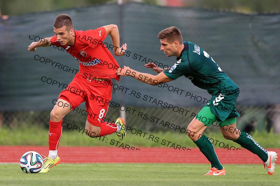 Fudbal season 2013-2014<br /> FK Crvena Zvezda pripreme<br /> Crvena Zvezda v Krka<br /> Darko Lazovic (L)<br /> Novo Mesto, 07.12.2014.<br /> foto: Srdjan Stevanovic/Starsportphoto &copy;