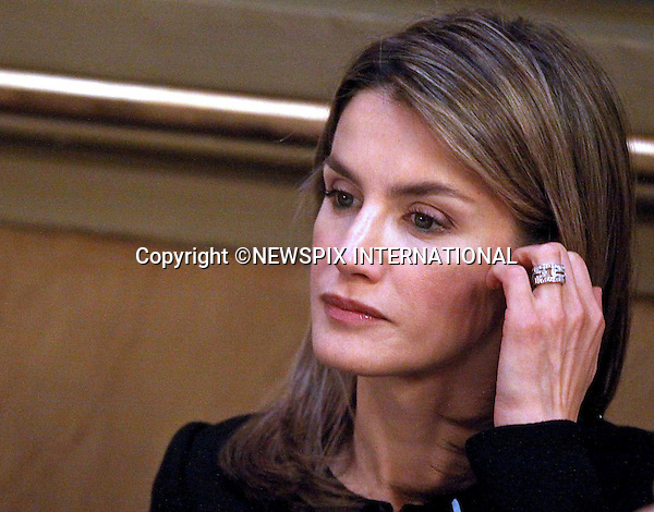 """CROWN PRINCESS LETIZIA.Prince Felipe and Princess Letizia of Spain attended the Luis Carandell Parliamentary Journalism Awards. Madrid_29/4/2009.Mandatory Credit Photo: ©NEWSPIX INTERNATIONAL..**ALL FEES PAYABLE TO: """"NEWSPIX INTERNATIONAL""""**..IMMEDIATE CONFIRMATION OF USAGE REQUIRED:.Newspix International, 31 Chinnery Hill, Bishop's Stortford, ENGLAND CM23 3PS.Tel:+441279 324672  ; Fax: +441279656877.Mobile:  07775681153.e-mail: info@newspixinternational.co.uk"""