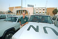 Nils Carlstrom, Director of Baghdad Monitoring and Verification Centre by the UN compound in Baghdad. <br /> UN weapons inspectors in February 1998 look for WMDs (weapons of mass destruction), as the population in Iraq prepared for an armed conflict.   The UNSCOM weapons inspectors left Iraq later that year.<br /> <br /> <br /> <br /> &copy;Fredrik Naumann/Felix Features