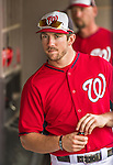 10 March 2014: Washington Nationals outfielder Steven Souza stands in the dugout prior to a Spring Training game against the Houston Astros at Space Coast Stadium in Viera, Florida. The Astros defeated the Nationals 7-4 in Grapefruit League play. Mandatory Credit: Ed Wolfstein Photo *** RAW (NEF) Image File Available ***