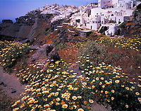 "Imerovigill Village Island of Santorini, Greee Cyclades Aegean Sea ""Thera"" Possible source of Atlantis legend"