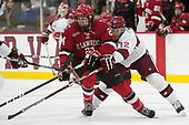 Taggart Corriveau (SLU - 24), John Marino (Harvard - 12) - The Harvard University Crimson defeated the St. Lawrence University Saints 6-3 (EN) to clinch the ECAC playoffs first seed and a share in the regular season championship on senior night, Saturday, February 25, 2017, at Bright-Landry Hockey Center in Boston, Massachusetts.