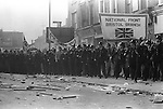 National Front march Lewisham, South London England 1977. .The police protect the NF march from left wing demonstrators. .