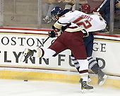 Matt Walters (Toronto - 11), Kevin Hayes (BC - 12) - The Boston College Eagles defeated the visiting University of Toronto Varsity Blues 8-0 in an exhibition game on Sunday afternoon, October 3, 2010, at Conte Forum in Chestnut Hill, MA.