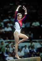 July 19, 1998; New York, NY, USA; Artistic gymnast Svetlana Khorkina of Russia performs balance beam at 1998  Goodwill Games New York. Copyright 1998 Tom Theobald