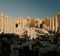 Severan Basilica, part of the ruined Roman city of Leptis Magna, Libya