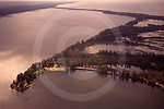 Aerial of Lake Erie and Presque Isle State Park, Erie Co., NW PA