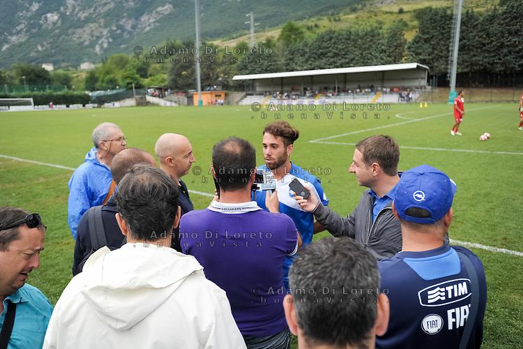 Francesco Zampano (Pescara) during the withdrawal preseason Serie A; match friendly between Pescara vs San Nicolò, on July 28, 2016. Photo: Adamo Di Loreto/BuenaVista*photo
