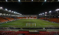 BLACKPOOL, ENGLAND - JANUARY 10: An almost empty Bloomfield Road as play continues in the second half  during the Checkatrade Trophy Round 3 match between Blackpool and Wycombe Wanderers at Bloomfield Road on January 10, 2017 in Blackpool, England. (Photo by Alex Dodd - CameraSport/CameraSport via Getty Images)