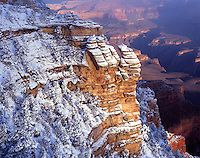 Morning light on clearing winter storm near Mather Point on the canyon's South Rim<br /> Grand Canyon Natinal Park, AZ
