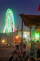 Amusement rides, Pushkar Fair, India.