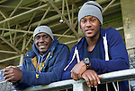 Jennison Myrie-Williams pictured with his old Carlisle roomate Cleveland Taylor at McDiarmid Park today after signing for St Johnstone...14.09.10.see story by Robert Thompson  Tel: 07841 330326.Picture by Graeme Hart..Copyright Perthshire Picture Agency.Tel: 01738 623350  Mobile: 07990 594431