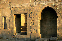 Doorway, Roman baths, 3rd century AD, Bosra, Syria Picture by Manuel Cohen