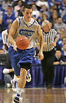 UK guard Mark Krebs dribbles down court during the first period of the Blue and White scrimmage at Rupp Arena Wednesday night..Photo by Zach Brake | Staff