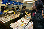 Fish Shop in  Queens Market, Upton Park East London. The market being is threatened with redevelopment.