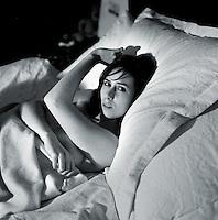 Portrait of a young woman in her twenties (Belgium, 14/03/2007)