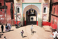 """Deoband, India, March 2002.Darul-Ul-Uloom, an influential Madrassah (Coranic school) was founded in Deoband in the 1860's; its radical view of Islam was easily embraced by countryside and illiterate muslems throughout the subcontinent. Numerous """"daughter"""" Madrassahs were founded according to the Deobandi rule, the most famous in Akkora Kattak, Pakistan where most of the Afghan Taliban rulers studied for many years before taking power."""