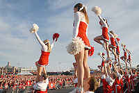 University of Wisconsin Spirit Squad cheer at the  Santa Monica Pier during their official Rose Bowl Pep Rally  on Thursday, December 30, 2010..
