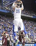 UK forward Willie Cauley-Stein dunks the ball during the second half of the men's basketball game against Mississippi State at Rupp Arena in Lexington, Ky. on Saturday, February 27, 2013. Photo by Genevieve Adams