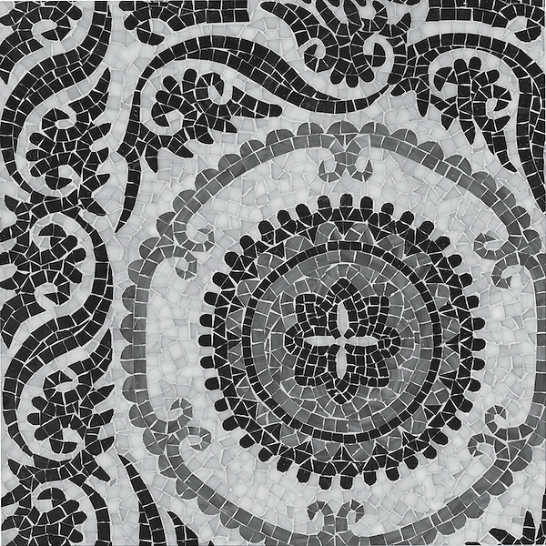 Suzani, a jewel glass hand cut mosaic, is part of the Silk Road Collection by Sara Baldwin for New Ravenna Mosaics. <br /> <br /> Take the next step: prices, samples and design help, http://www.newravenna.com/showrooms/