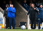 St Johnstone v Hibs....05.03.11 .Derek McInnes not too happy.Picture by Graeme Hart..Copyright Perthshire Picture Agency.Tel: 01738 623350  Mobile: 07990 594431