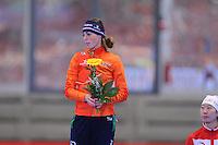 SPEED SKATING: INZELL: 04-12-2015, Max Aicher Arena, ISU World Cup, Podium 500m Ladies, B-division, Janine Smit (NED), ©foto Martin de Jong