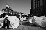 Egyptian activists occupy a tent camp in Tahrir Square in Cairo, Egypt July 27,2011. Nearly six months after the Jan 25 revolution, many activists, families of martyrs and victims occupying the square are still struggling to obtain justice and continue with the goals they set out to achieve. (Photo by Scott Nelson for Stern)