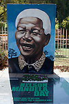 SOWETO, SOUTH AFRICA : A Nelson Mandela memorial in Thokoza park close to Regina Mundi church in Soweto, South Africa. . (Photo by: Per-Anders Pettersson)