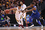 MILWAUKEE, WI - MARCH 16:  Minnesota Gophers guard Nate Mason (2) and Middle Tennessee Blue Raiders guard Aldonis Foote (45) fight for a loose ball during the first half of the 2017 NCAA Men's Basketball Tournament held at BMO Harris Bradley Center on March 16, 2017 in Milwaukee, Wisconsin. (Photo by Jamie Schwaberow/NCAA Photos via Getty Images)