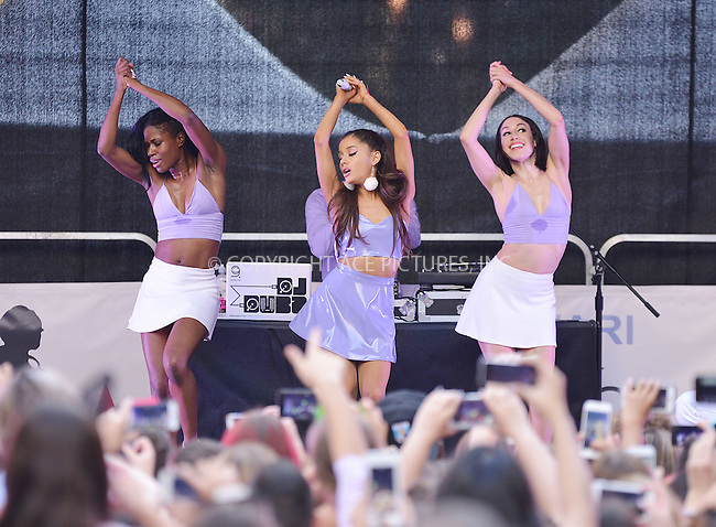 WWW.ACEPIXS.COM<br /> <br /> September 16 2015, New York City<br /> <br /> Ariana Grande performs onstage before as she unveils her new fragrance 'ARI by ARIANA GRANDE' at Macy's Herald Square on September 16, 2015 in New York City.<br /> <br /> By Line: Curtis Means/ACE Pictures<br /> <br /> <br /> ACE Pictures, Inc.<br /> tel: 646 769 0430<br /> Email: info@acepixs.com<br /> www.acepixs.com