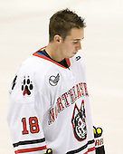 Mike McLaughlin (Northeastern - 18) - The visiting Niagara University Purple Eagles defeated the Northeastern University Huskies 4-1 on Friday, November 5, 2010, at Matthews Arena in Boston, Massachusetts.