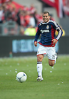 14 April 2012: Chivas USA forward Alejandro Moreno #15 in action during a game between Chivas USA and Toronto FC at BMO Field in Toronto..Chivas USA won 1-0.