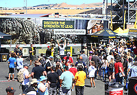 Jul 30, 2016; Sonoma, CA, USA; NHRA fans visit the U.S. Army Strength in Action display on the midway during qualifying for the Sonoma Nationals at Sonoma Raceway. Mandatory Credit: Mark J. Rebilas-USA TODAY Sports