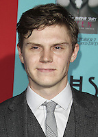 HOLLYWOOD, LOS ANGELES, CA, USA - OCTOBER 05: Evan Peters arrives at the Los Angeles Premiere Screening Of FX's 'American Horror Story: Freak Show' held at the TCL Chinese Theatre on October 5, 2014 in Hollywood, Los Angeles, California, United States. (Photo by Celebrity Monitor)