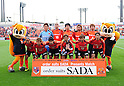 Omiya Ardija team group line-up,.APRIL 7, 2012 - Football / Soccer :.Omiya Ardija players (Top row - L to R) Takashi Kitano, Rafael, Kim Young Gwon, Kosuke Kikuchi, Takuya Aoki, (Bottom row - L to R) Carlinhos, Takumi Shimohira, Daisuke Watabe, Jun Kanakubo, Daigo Wawanabe and Cho Young Cheol pose for a team photo with the club mascots &quot;Ardi&quot;(R) and &quot;Miya&quot;(L) before 2012 J.League Division 1 match between Omiya Ardija 0-3 Cerezo Osaka at NACK5 Stadium Omiya in Saitama, Japan. (Photo by AFLO)