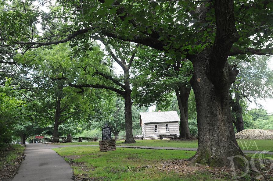 NWA Democrat-Gazette/FLIP PUTTHOFF <br /> The one-mile walking tour     Saturday July 16, 2016      at Prairie Grove Battlefield State Park visits stately oak trees along the route.