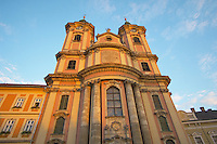 Minorite Church in the Dobo square at sunset - Eger Hungary